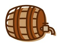Beer Barrel Logo isolated on white background - Vector illustration. Beer Barrel Logo isolated on white background. Vector illustration stock illustration