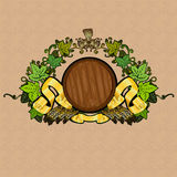 Beer barrel luxury background Stock Images