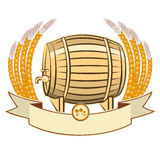 Beer barrel.Vector illustration isolated on white  Stock Photo
