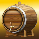 Beer barrel stock illustration