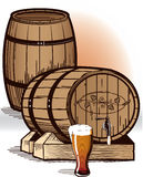 Beer Barrels Royalty Free Stock Images