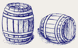 Beer barrels. Doodle style. Vector Royalty Free Stock Images