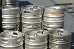 Beer Barrels kegs Stock Photography