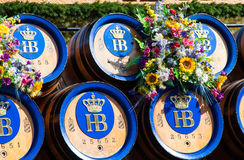 Beer barrels of Oktoberfest  Stock Image
