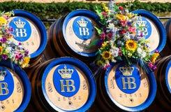 Beer barrels of Oktoberfest  Stock Image