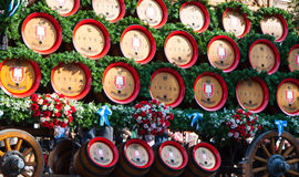 Beer barrels of Oktoberfest Royalty Free Stock Photo