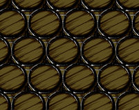 Beer barrels seamless Royalty Free Stock Photos