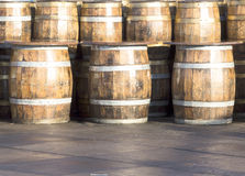 Beer Barrels Stock Photography