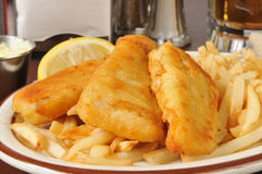 Beer battered fish sticks Royalty Free Stock Photo