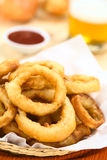 Beer-Battered Onion Rings Royalty Free Stock Image