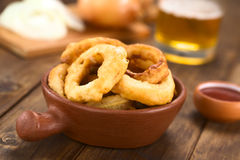 Beer-Battered Onion Rings Royalty Free Stock Photos