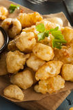 Beer Battered Wisconsin Cheese Curds Royalty Free Stock Photography