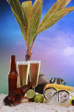 Beer at the beach Royalty Free Stock Image
