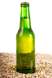 Beer and beach sand, studio shot Stock Photography