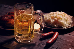 Beer and beer snack. Stock Image