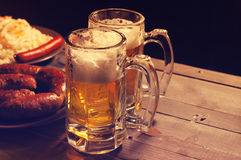 Beer and beer snack. Royalty Free Stock Photos