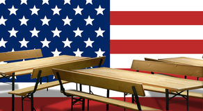 Beer benches USA Design Stock Images