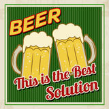 Beer this is the best solution poster Royalty Free Stock Photography
