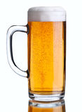 Beer beverage on white Stock Photo