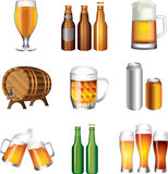 Beer big set Royalty Free Stock Images