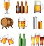 Beer big set. Beer big photo-realistic set Royalty Free Stock Images