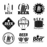 Beer black emblems Stock Photography