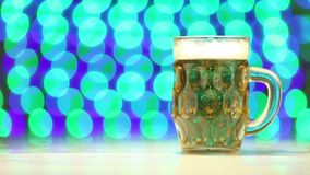 Beer and blurry background as celebration concept stock video footage