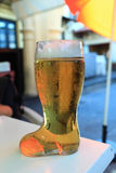 Beer in boot glass Royalty Free Stock Photography