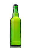 Beer bottle. Green beer bottle isolated on white Stock Photos