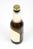 Beer bottle. Ice cold beer bottle isolated on white background stock photo