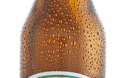 Beer bottle. Upper part of beer bottle Stock Image