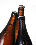Beer bottle. Close up beer bottle on white background Royalty Free Stock Photography