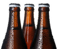 Beer bottle. Close up beer bottle on white background Royalty Free Stock Photo