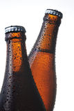 Beer bottle. Close up beer bottle on white background Stock Photos