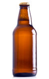 Beer bottle. Isolated on white background Royalty Free Stock Photo
