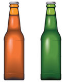 Beer bottle. No mesh or transparency, blend and gradient only Stock Photos