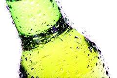 Beer bottle abstract isolated Royalty Free Stock Images