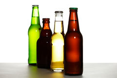 Beer bottle assortment Royalty Free Stock Photography