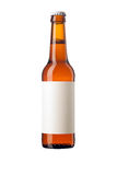 Beer bottle with blank label Royalty Free Stock Photos