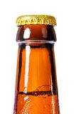 Beer bottle. Beer bootle with water drops isolated Stock Photo