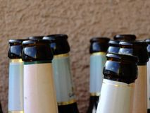 Beer bottle bottleneck Stock Image