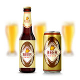 Beer Bottle And Can Royalty Free Stock Images