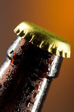 Beer bottle cap. Close up of a Beer bottle cap Royalty Free Stock Photo