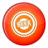 Beer bottle cap icon, flat style Stock Image