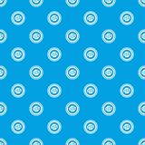 Beer bottle cap pattern seamless blue Stock Photography