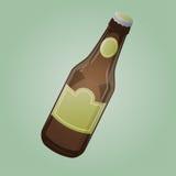 Beer bottle cartoon clipart Stock Image