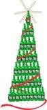 Beer bottle christmas tree Stock Image
