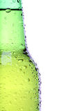 Beer bottle closeup isolated Royalty Free Stock Image