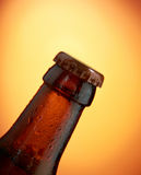 Beer bottle clouse-up Royalty Free Stock Photo