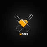 Beer bottle concept design background Royalty Free Stock Photography
